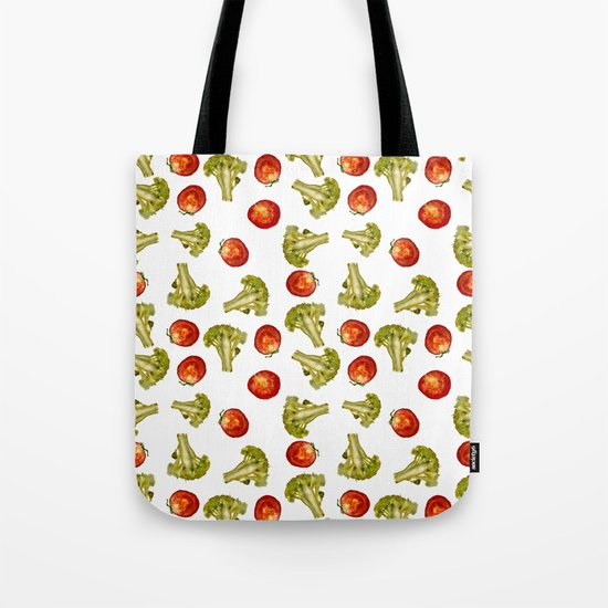 Broccoli and tomato Tote Bag