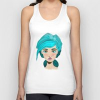 turquoise Tank Tops featuring Turquoise by Hingy Art
