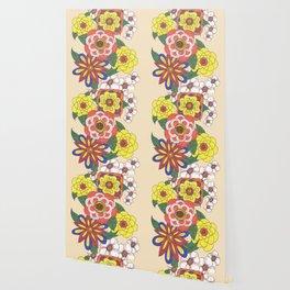 Retro Flowers Wallpaper