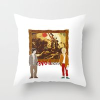 revolution Throw Pillows featuring rEVOLution by Little wadoo