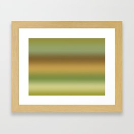 Tussock Green Smoke Framed Art Print
