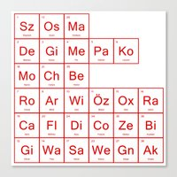 periodic table Canvas Prints featuring Periodic Table of Arsenal by jamestan14