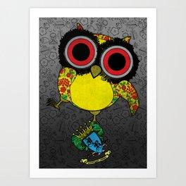Printed Owl Art Print