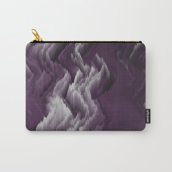 Purple, white, dark abstract. Carry-All Pouch