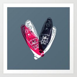 moccasin red and blue Art Print