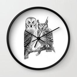 Bubo and Strix Wall Clock