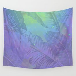 Rainbow in Palms Wall Tapestry