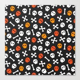 Skulls and bones Canvas Print