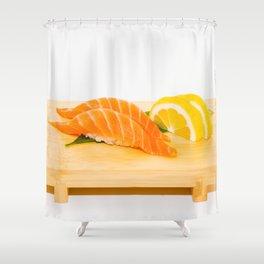 Salmon Sushi Shower Curtain
