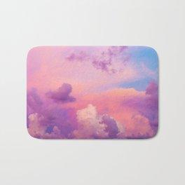 Pink Purple Clouds Bath Mat