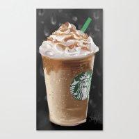 starbucks Canvas Prints featuring Starbucks by Amit Naftali