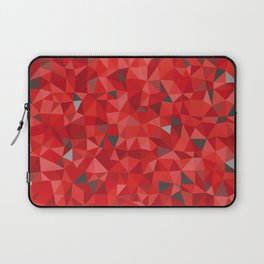 Red and gray triangular pattern - triangles mosaic Laptop Sleeve