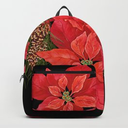 Christmas Poinsettia Backpack