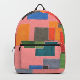 Squares on salmon Backpack