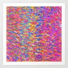 Color Cascade Art Print