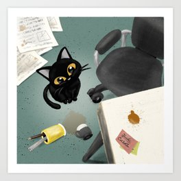 At the office Art Print