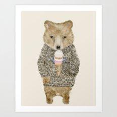 sundae bear Art Print