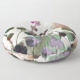 floral abstract summer autumn Floor Pillow