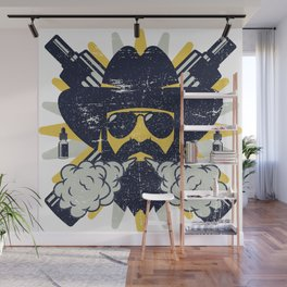 Cloud Chaser - Vaping Bearded Man Wall Mural
