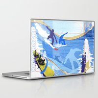 snowboarding Laptop & iPad Skins featuring Snowboarding by Robin Curtiss