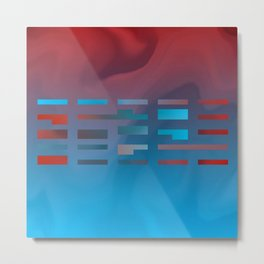 2in1 Pattern Mix, Justin blue Metal Print