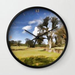 Winter Clouds Wall Clock