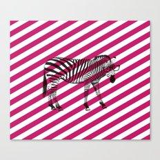 Nerd Zebra (Pink) Canvas Print