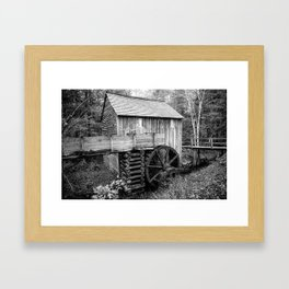 Cable Mill - Old Mill in Great Smoky Mountains Framed Art Print
