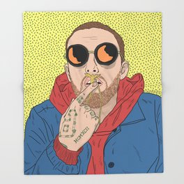 Mac Miller Throw Blanket