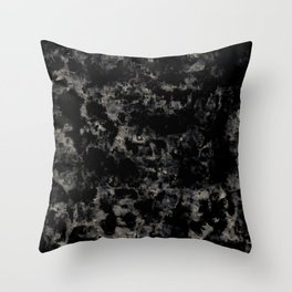 Grunge dark gray Throw Pillow