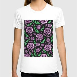 Floral background T-shirt