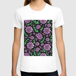 Floral background T-shirt