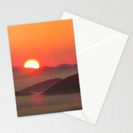 Sunrise Over Blue Ridge Mountains Stationery Cards