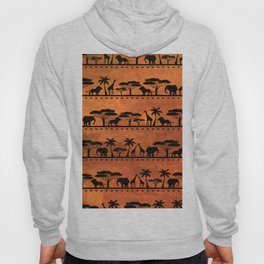 African Animal Pattern Hoody