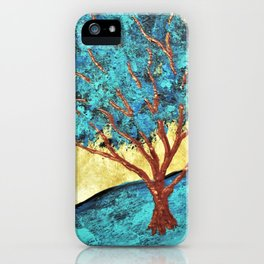 Twilight Woods #292 by Michael Kraus - blue white trees forest na iPhone Case