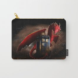 Blue Phone Booth lost in the Dragon nest iPhone, ipod, ipad, pillow case and tshirt Carry-All Pouch
