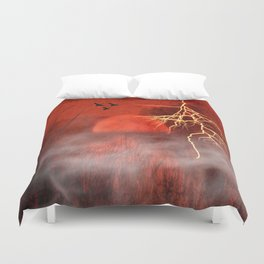 Red moon Duvet Cover