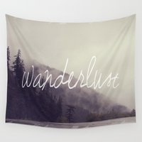 wanderlust Wall Tapestries featuring Wanderlust by Christine Hall