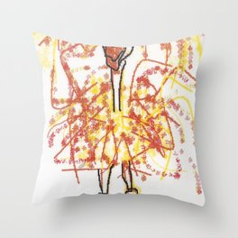 Sally Rand Throw Pillow