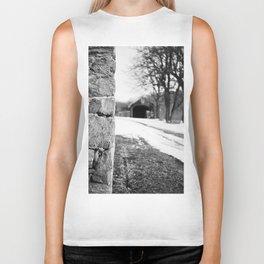 Lane, Yashica C, Black and White, Film, Medium Format Biker Tank