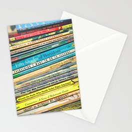 Quarantine Book Titles Stationery Cards