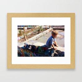 Graffiti Child Framed Art Print