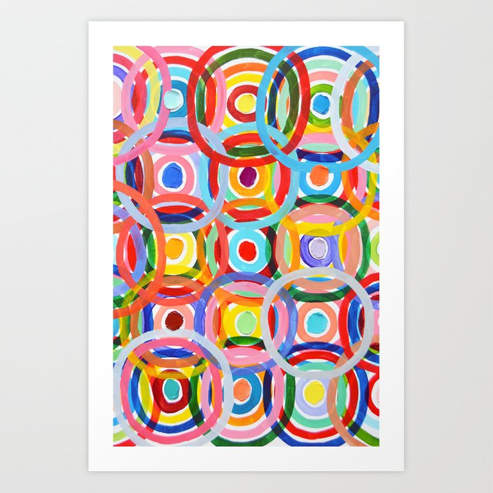 Ornamental Polka Daubs Art Print