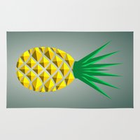 pineapple Area & Throw Rugs featuring Pineapple by mailboxdisco