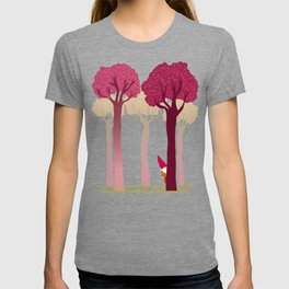 colorful forest with cute dwarf T-shirt