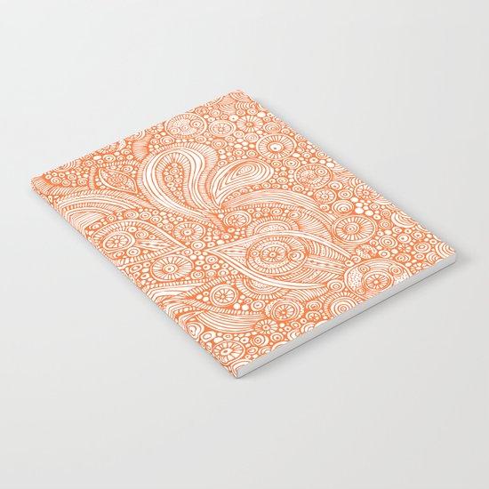 Orange doodles Notebook