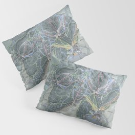 Killington Resort Trail Map Pillow Sham