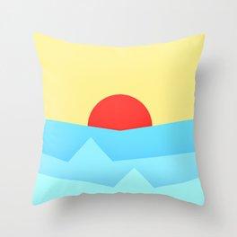Childish Sunset Throw Pillow