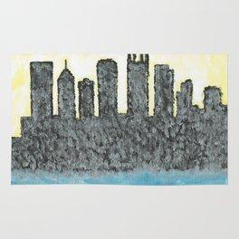 Steel City Skyline Rug