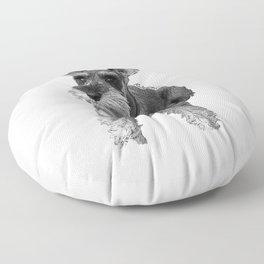 Christmas Schnauzer Floor Pillow